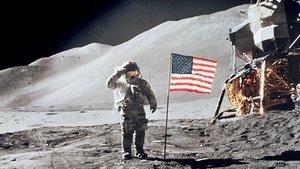 Imagendel un paseo lunar de la misión Apolo 11, en 1969.