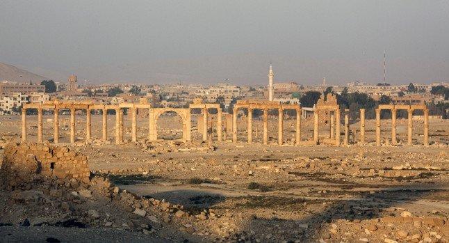 Mal estat de les ruïnes de Palmira, el novembre del 2010.