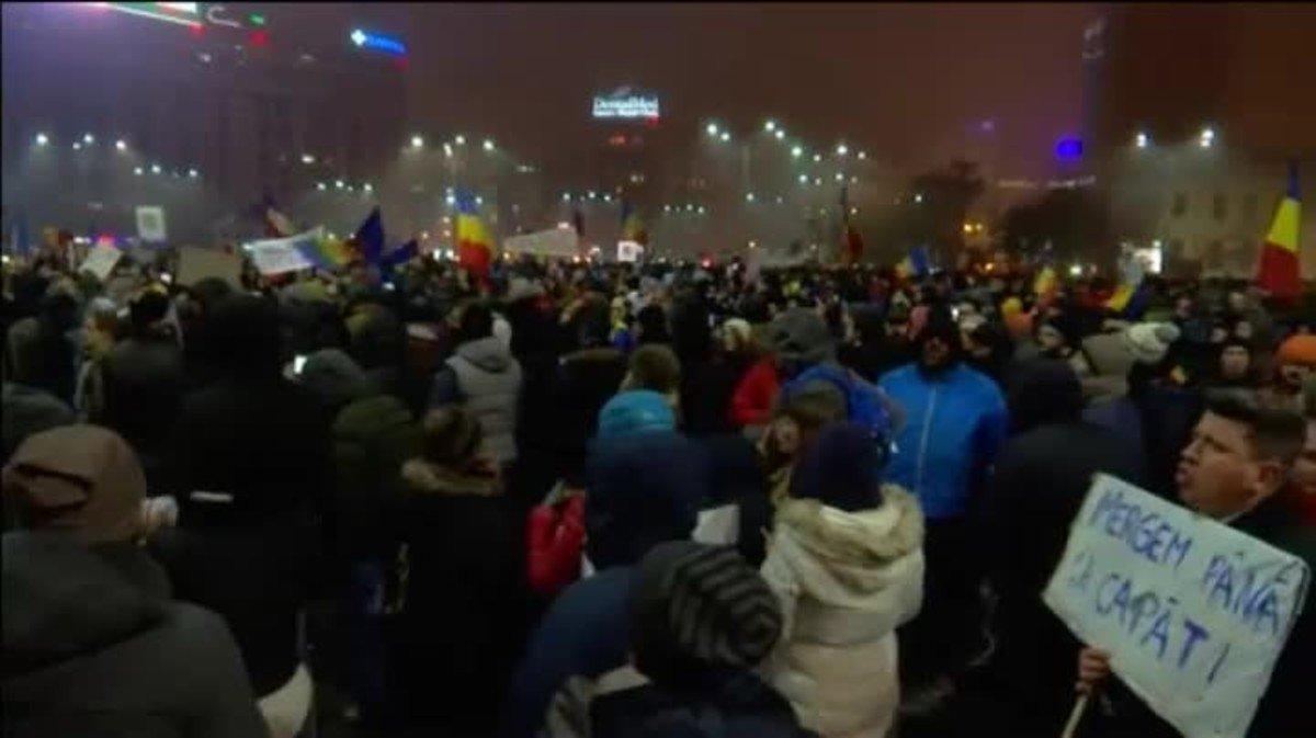 Manifestaciones contra el Gobierno en Rumanía.