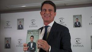 Manuel Valls, en la presentación de 'Barcelona, vuelvo a casa'.