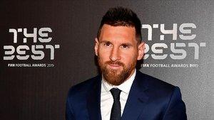 Messi, en la gala de 'The Best' en Milán.