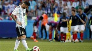 Messi, tras caer eliminadoante Francia en el Mundial de Rusia.