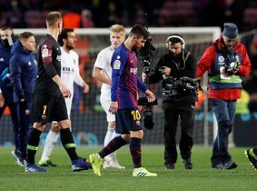 Messi, tras acabar el Barça-Valencia.