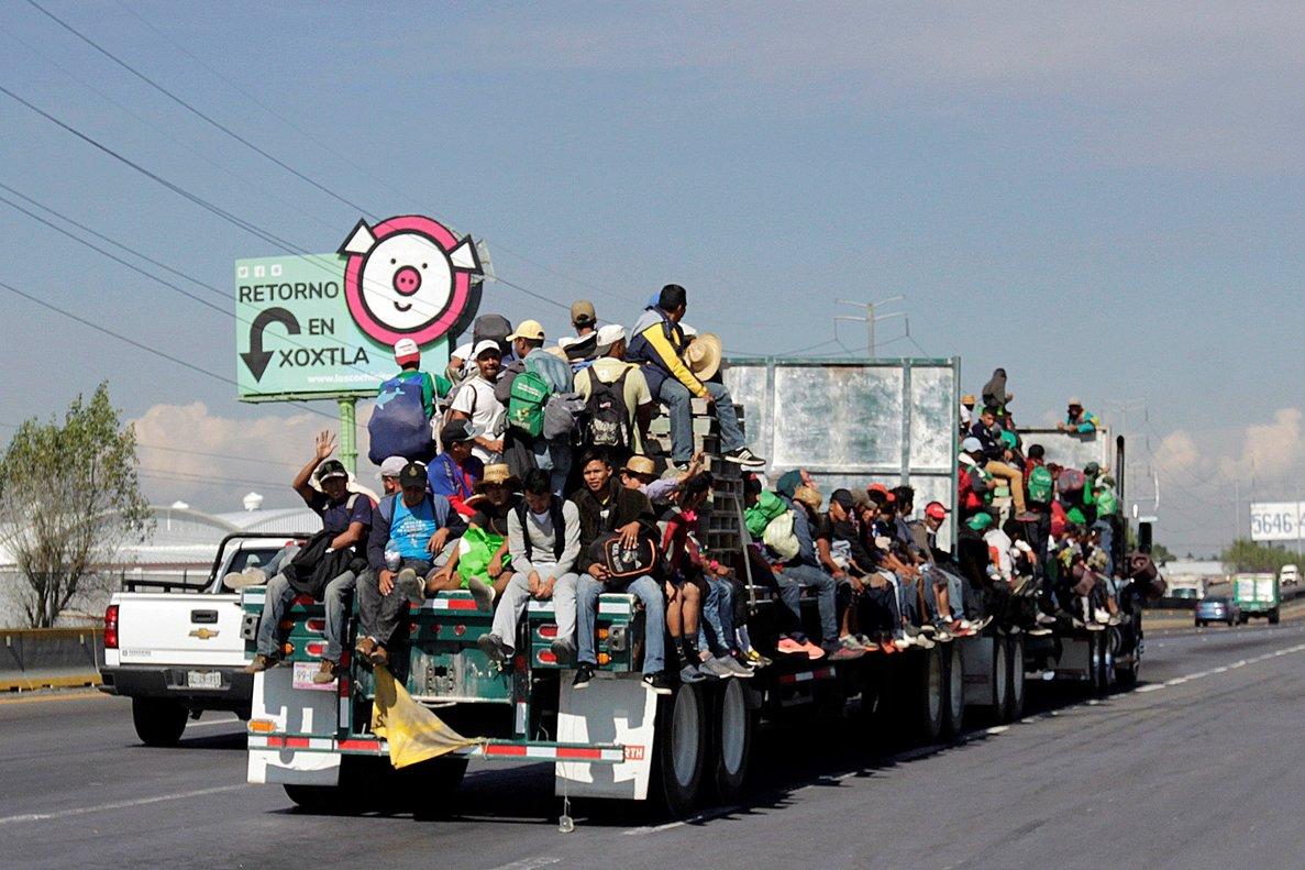 Miles denicaragüenses formaron caravanas para cruzar México y poder ingresar a Estados Unidos.