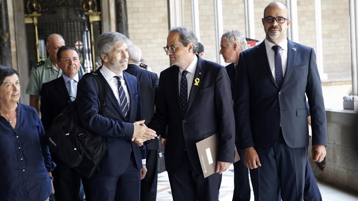 Reunión dela Junta de Seguridad de Catalunya, este jueves.