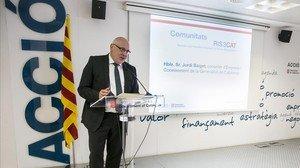 El conseller de Empresa, Jordi Baiget, en un acto de Acció.