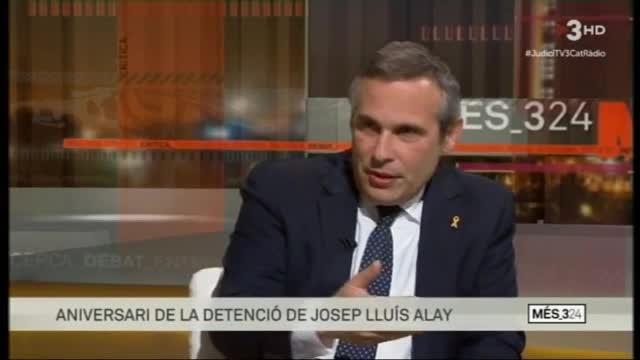 Josep Lluís Alay, en Més 3/24 (TV-3).