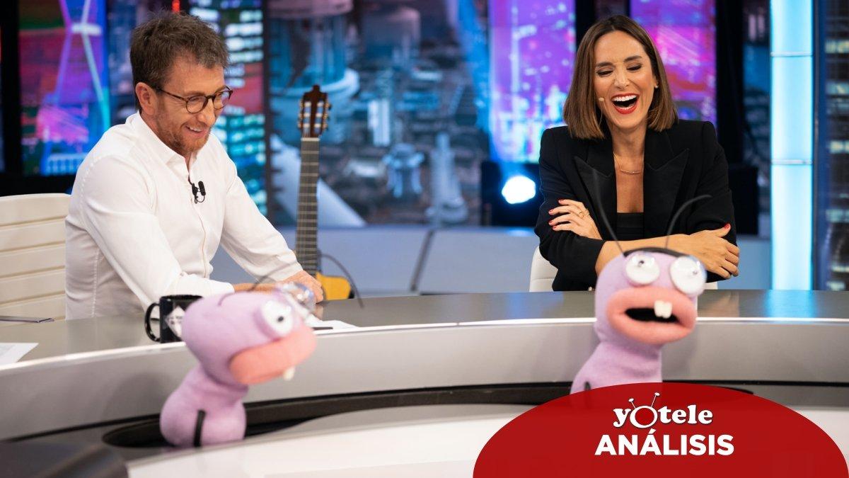 Pablo Motos, Trancas y Barrancas y Tamara Falcó en 'El hormiguero'.