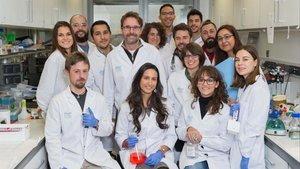 Parte del equipo de investigadores del Vall dHebron.