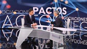 Pedro Sánchez en la entrevista de 'Antena 3'