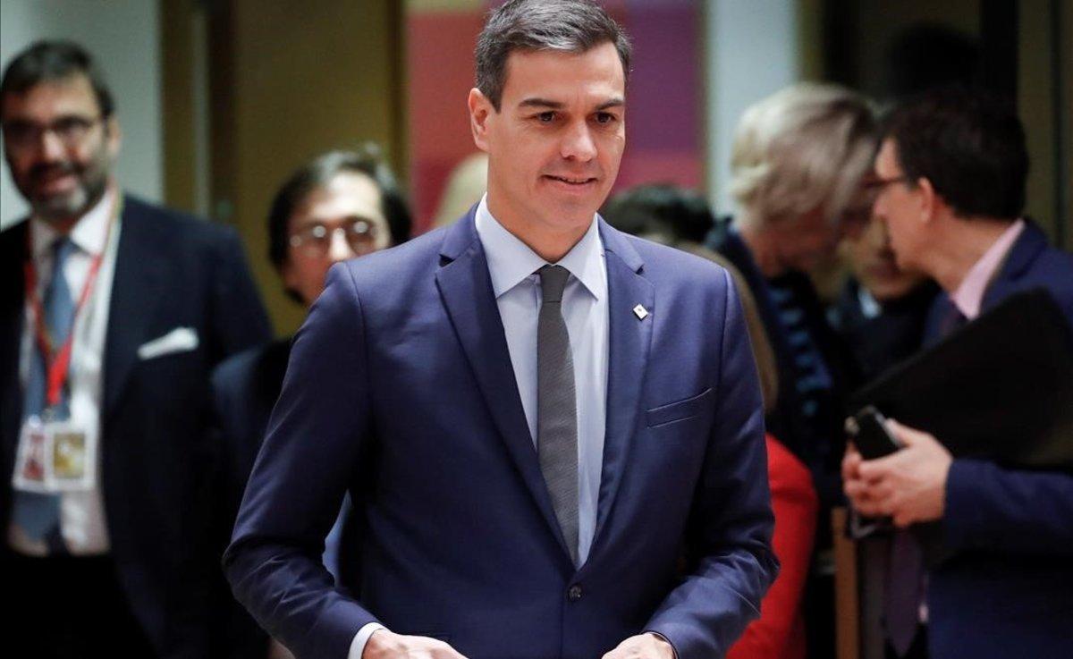 Pedro Sánchez en la segunda jornada de la cumbre de la Unión Europea en Bruselas.