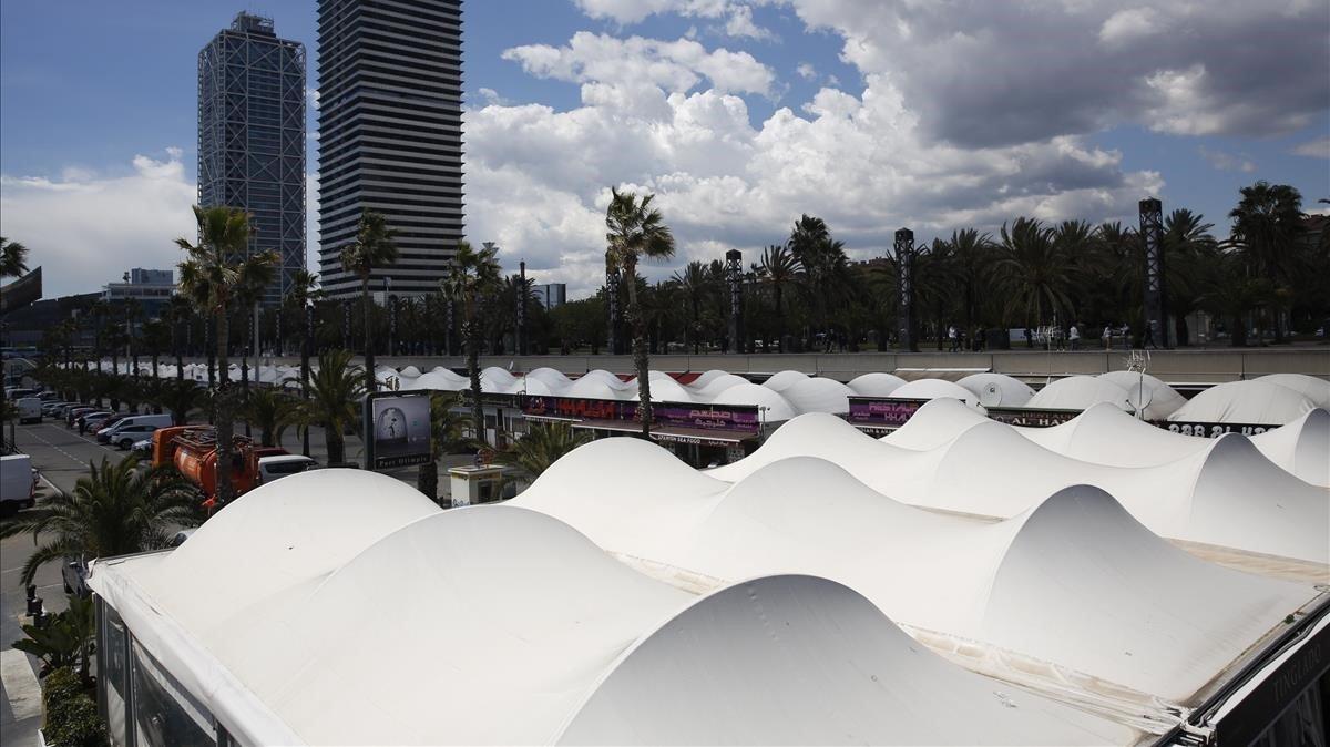 El Port Olímpic de Barcelona.