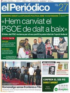 EL PERIÓDICO DE CATALUNYA, 27-04-2014.