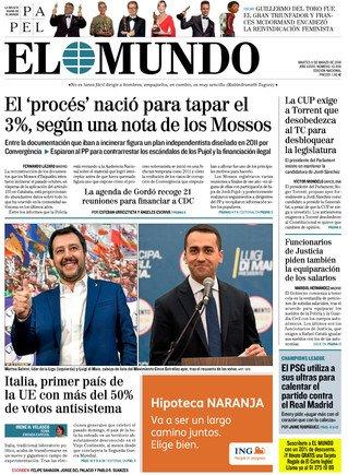 El objetivo del 'procés' era tapar el 'caso 3%' de Convergència asegura 'El Mundo'