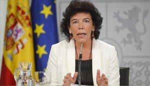 La ministra de Educación y portavoz del Gobierno, IsabelCelaá, en una imagen de archivo.