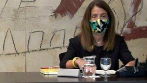 La portavoz del Govern y 'consellera' de Presidència, Meritxell Budó, este martes.