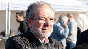 El presidente de la Diputació de Lleida, Joan Reñé, este miércoles.