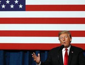 El presidente estadounidense, Donald Trump, en una conferencia en Kansas City