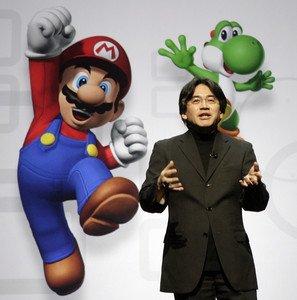 El presidente de Nintendo, Satoru Iwata, en la feria E3 de Los Ángeles, en julio del 2008.