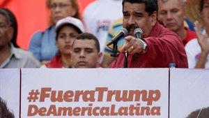 El presidente venezolano, Nicolás Maduro, en una foto de archivodurante un discurso en Caracas en agosto del año pasado.