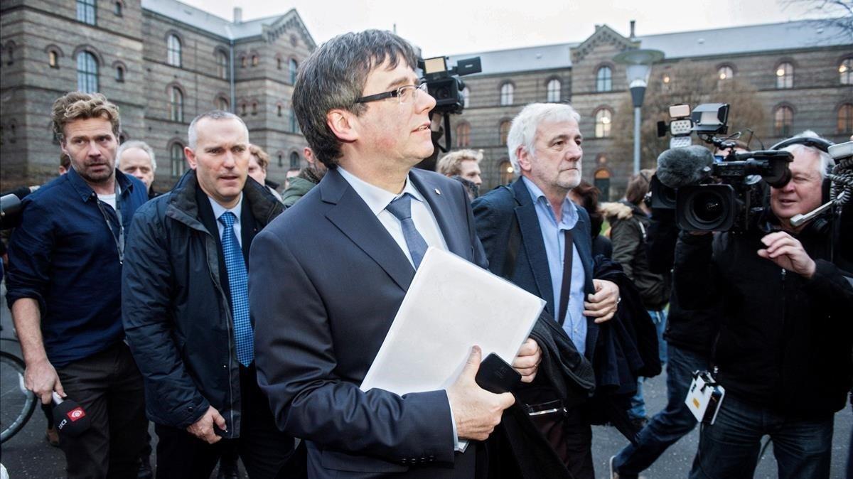Puigdemont, el pasado 22 de enero, tras participar en un acto académico en la Universidad deCopenhague.