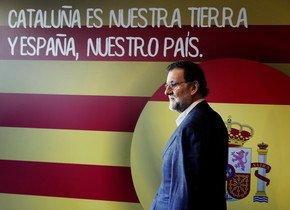 Rajoy, a su llegada a la clausura del congreso del PP catalán, el domingo en LHospitalet.
