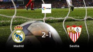El Real Madridsuma tres puntos más frente al Sevilla (2-1)