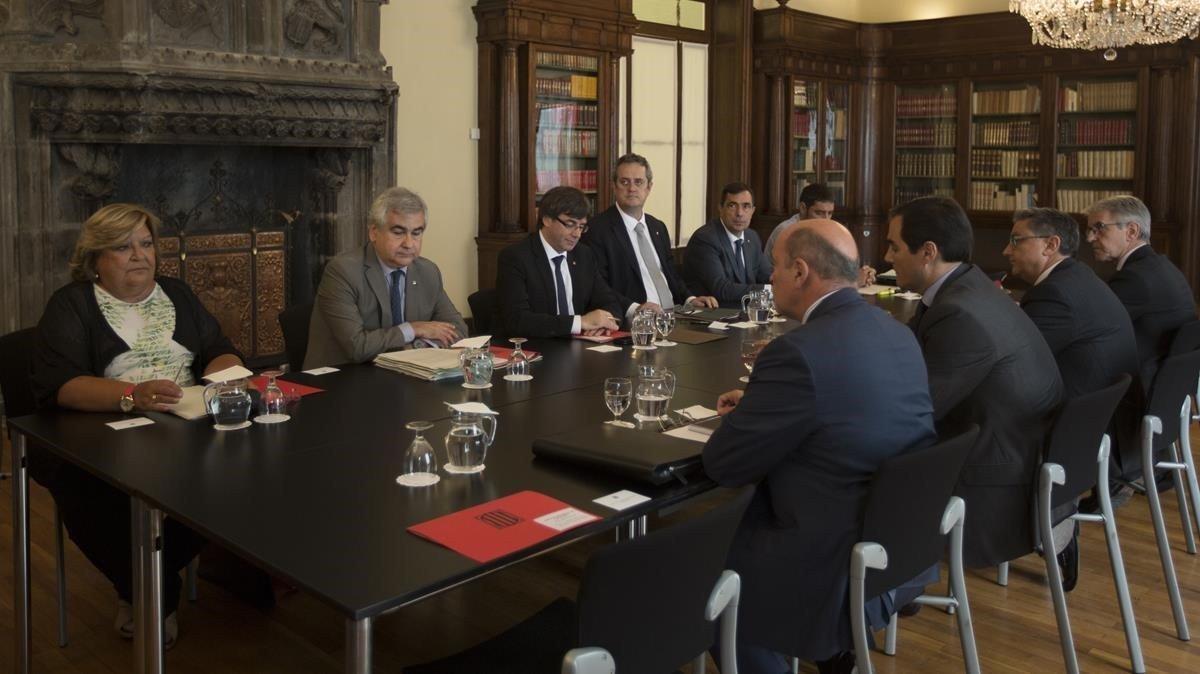 Reunión de la Junta de Seguridad de Catalunya.