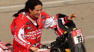 Rosa Romero, en Lima, el día que arrancó el Dakar.
