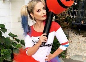 Sarah Michelle Gellar, la entrañable Buffy, se disfrazó de la desquiciada Harley Quinn