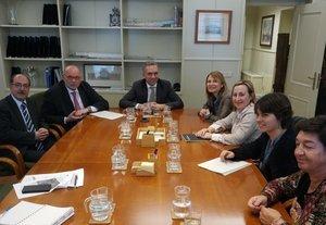 El secretario general de Infraestructuras, José Javier Izquierdo, y representantes de los municipios afectados se reunieron el pasado lunes en Madrid