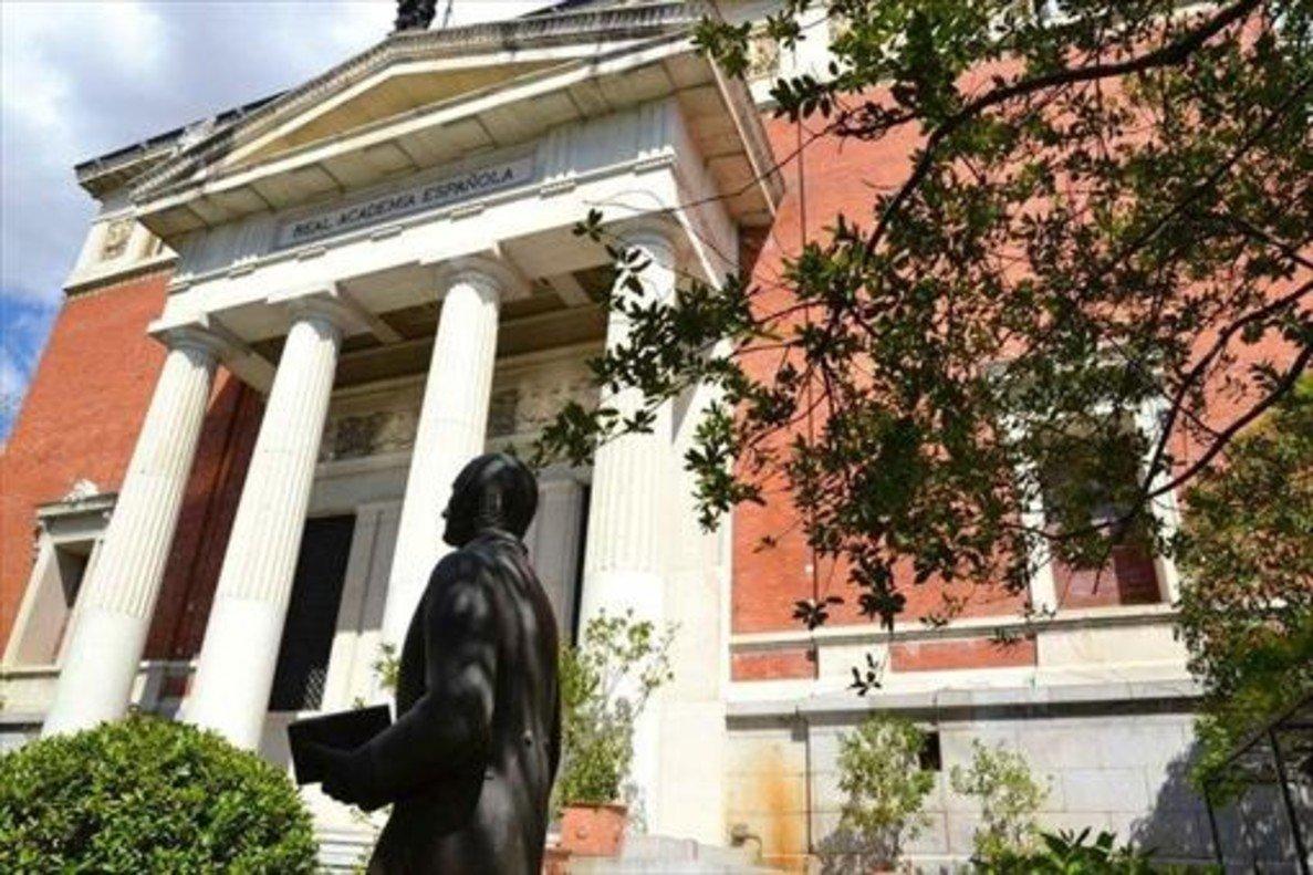 Sede de la Real Academia Española (RAE) en Madrid.