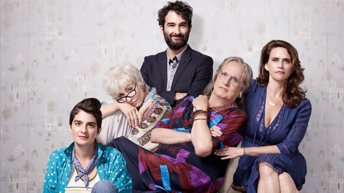 Los Pfefferman: Gaby Hoffman , Judith Light, Jay Duplass, Jeffrey Tambor yAmy Landecker.
