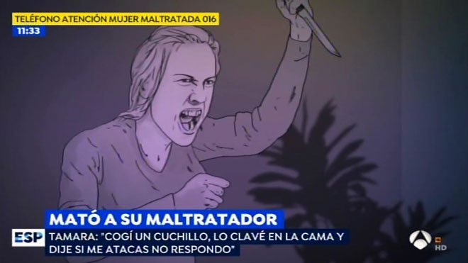 Recreación del suceso de Tamara (Antena 3 TV).