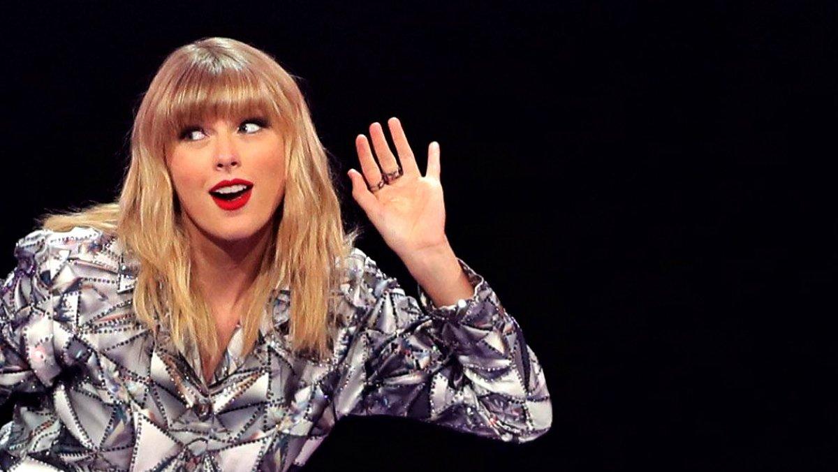 La cantante estadounidense Taylor Swift durante la celebración del día del soltero del grupo comercial Alibaba.