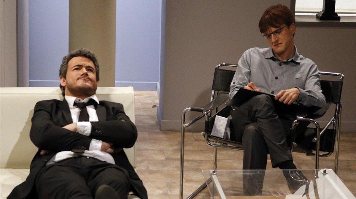 Luis Enrique (Ivan Labanda), en el programa Crackòvia, de TV-3.