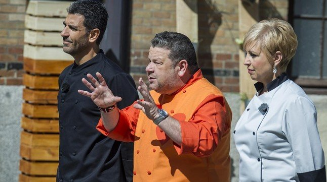 Paco Roncero, Alberto Chicotey Susi Díaz, el jurado de Top chef.