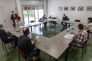 Reunión del alcalde de Terrassa y los portavoces para las bases del futuro Pacto de Ciudad.