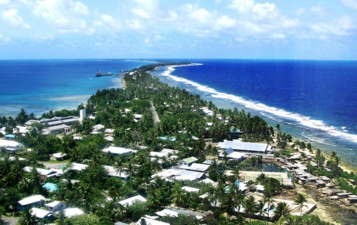 Tuvalu, una pequeña isla en elPacífico Sur.
