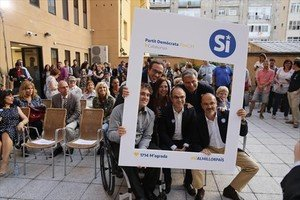 Una imagen del acto del inicio de la campaña del PDECat por el 'sí' al referéndum y a la independencia.