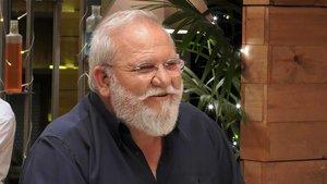 Vicente, el comensal al que Lidia Torrent le sacó un parecido comparable con Papá Noel.