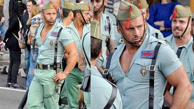 Los ceñidos uniformes de la Legión española encienden Twitter
