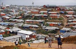 Vista del mayor campo de refugiados del mundo, Kutupalong en Bangladés
