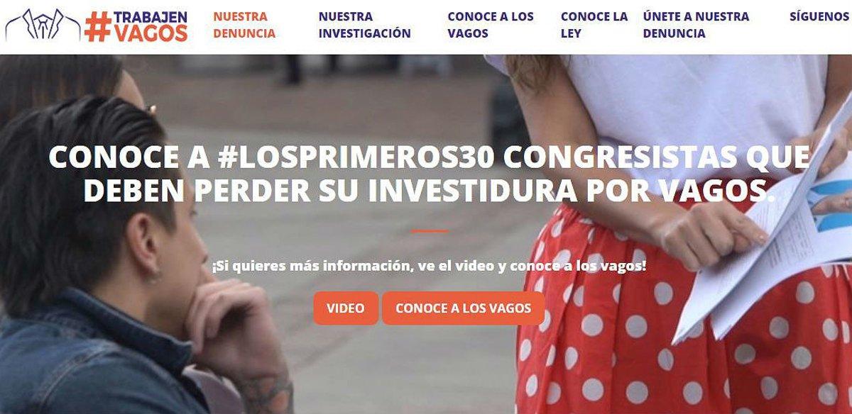 La web ofrece un listado con información sobre cada congresista vago.