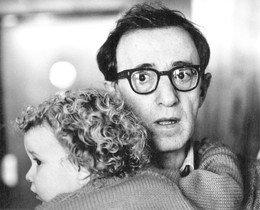 Woody Allen, amb Dylan Farrow.