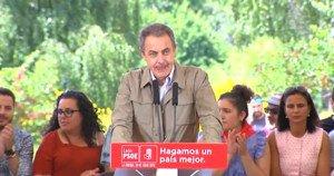 El expresidente José Luis Rodríguez Zapatero, en la Fiesta de la Rosa de los socialistas leoneses.