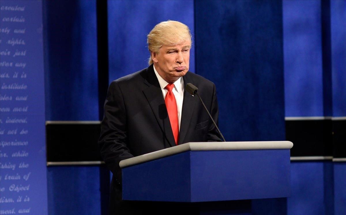 Alec Baldwin en su imitación deDonald Trump.