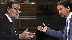 Mariano Rajoy y Pablo Iglesias.