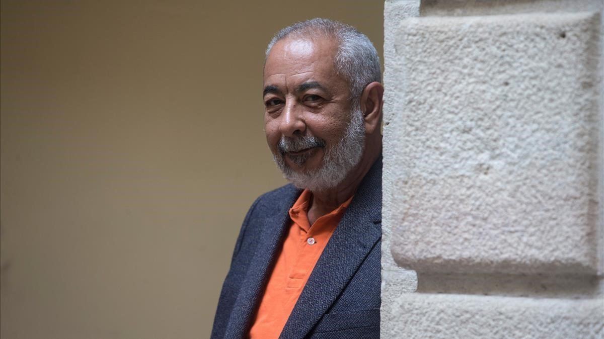 Leonardo Padura, en Barcelona, antes de recibir el Premio Barcino.