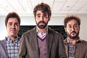 Los protagonistas de 'Lo dejo cuando quiera': David Verdaguer, Ernesto Sevilla y Carlos Santos.